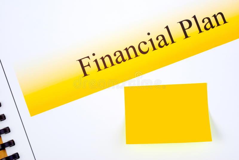 Download Financial Plan With Matching Sticky Note Stock Image - Image: 31476075
