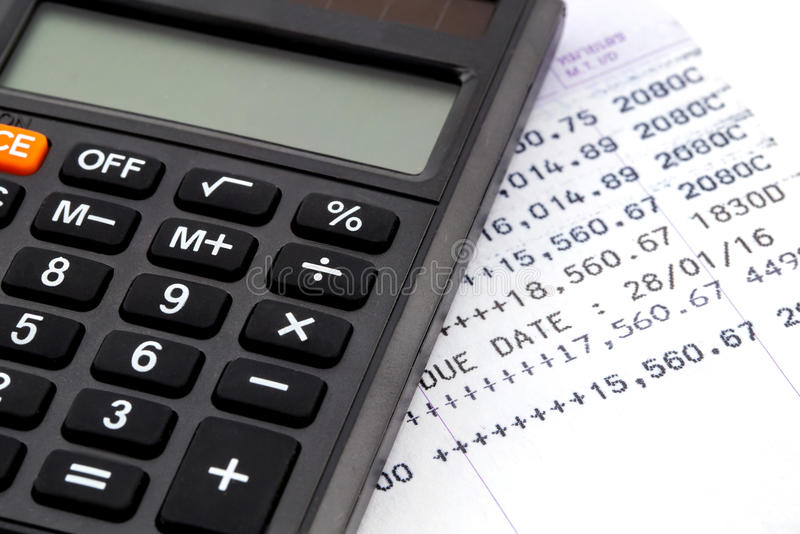 Financial planning. With calculator, business concept royalty free stock photo
