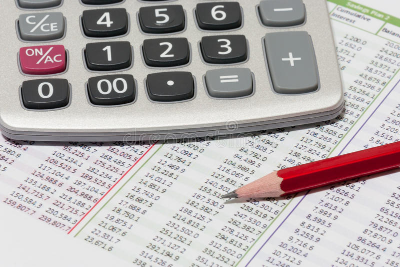 Download Financial Planning With Calculator And Pencil Stock Image - Image: 26783643