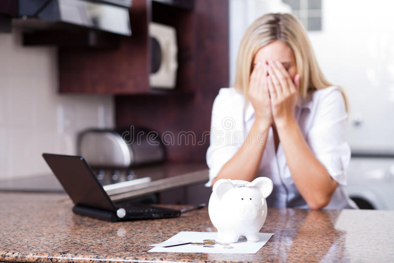 Download Financial problems stock image. Image of indoor, blonde - 23463007
