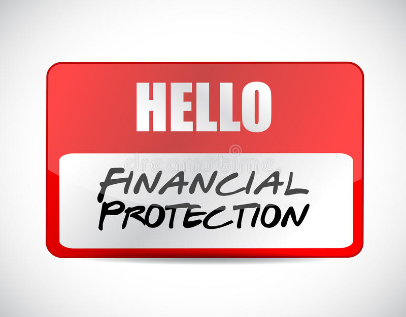 Financial Protection name tag sign concept. Illustration design graphic vector illustration