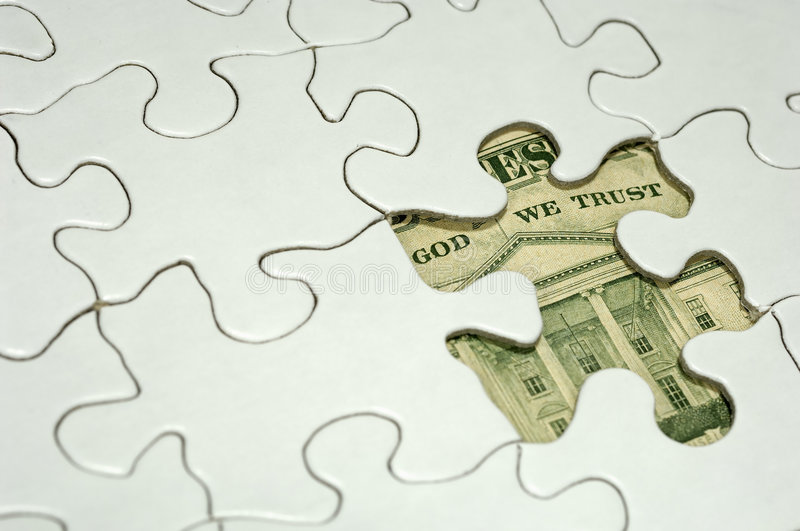 Financial Puzzle stock image