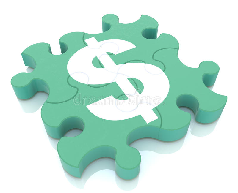 Financial puzzle royalty free stock images