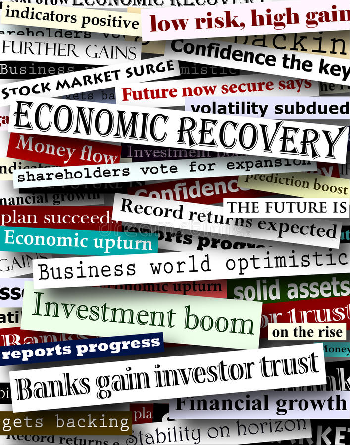 Download Financial Recovery Headlines Stock Image - Image of optimism, topical: 14260085