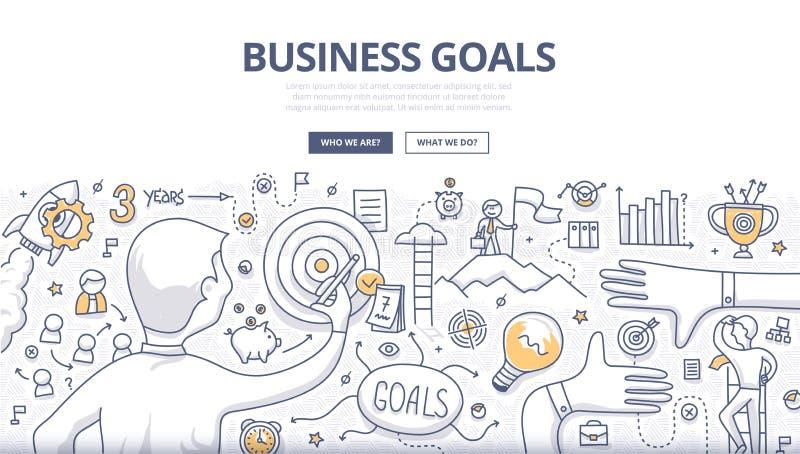 Financial Report Doodle Concept stock illustration