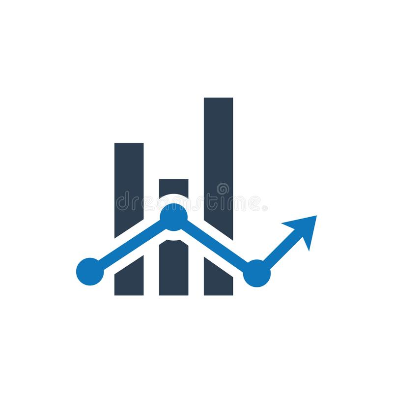Financial report icon. Simple illustration of a Financial report icon vector illustration