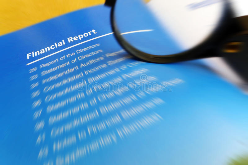 Financial report studying stock photos