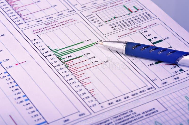 Financial report summary stock photo