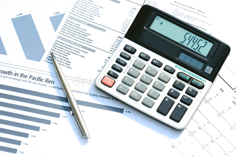 Download Financial reports stock photo. Image of documents, calculator - 1180414