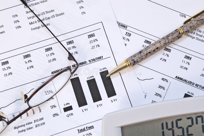 Financial Reports royalty free stock images