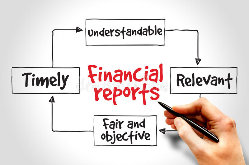 Financial reports royalty free stock photography