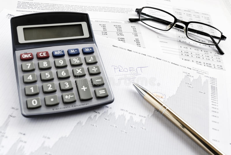 Financial Results Royalty Free Stock Photo