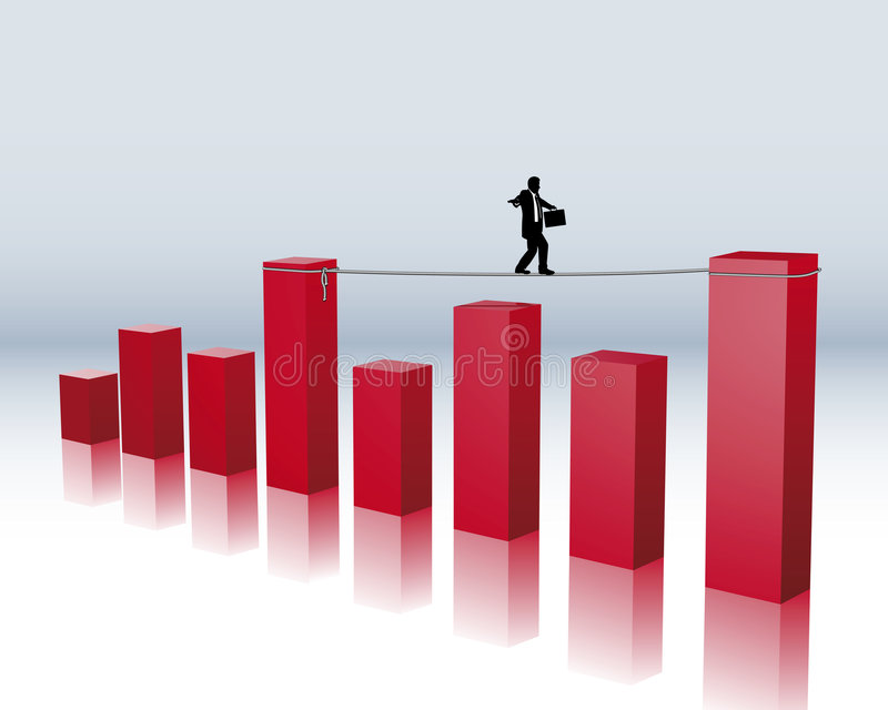 Financial risk stock illustration