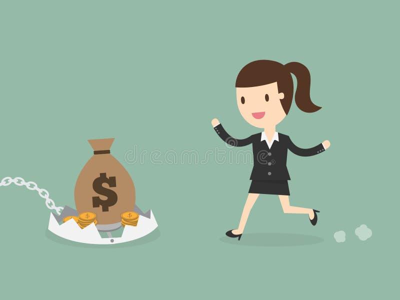 Financial risk concept royalty free illustration