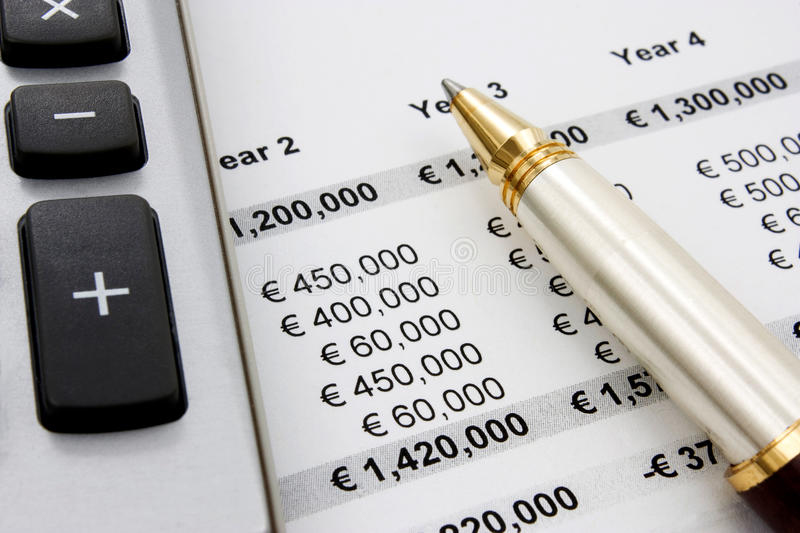 Financial And Sales Report Stock Images