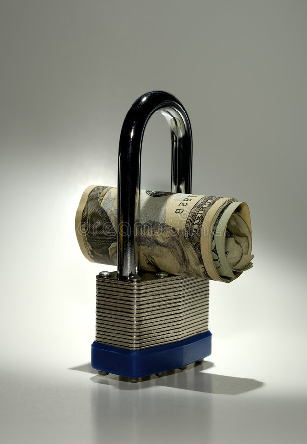 Financial Security stock image