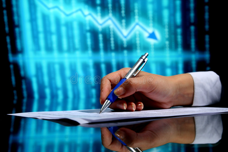 Financial seminar stock images