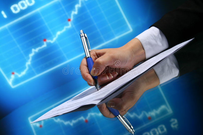 Financial seminar stock image