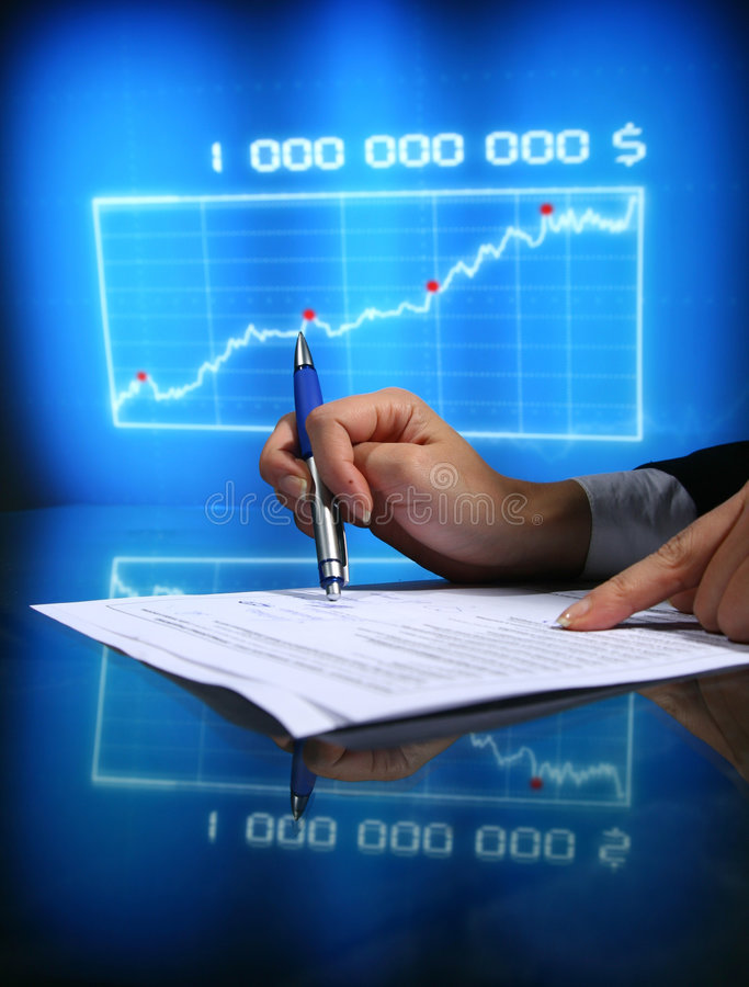Financial seminar stock photography