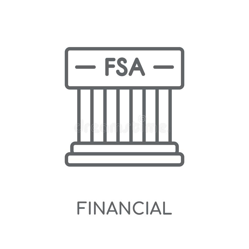 Financial Services Authority linear icon. Modern outline Financi royalty free illustration