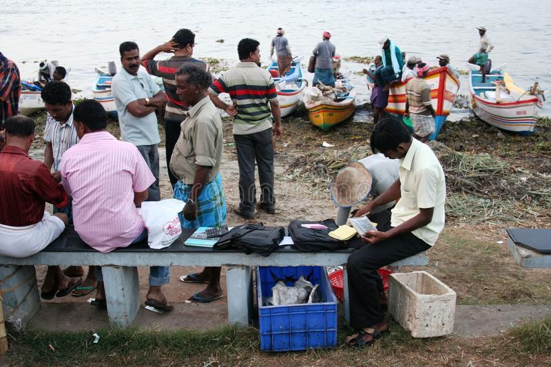Download Financial Settlement After A Fishing Day Editorial Stock Image - Image: 18041679