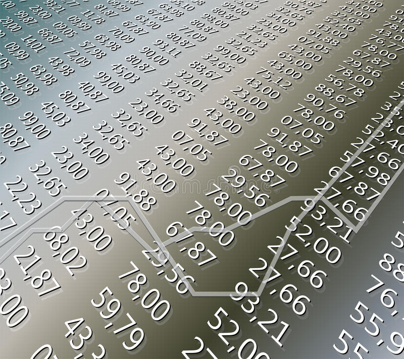Download Financial Sheet stock vector. Image of illustration, progress - 12458787