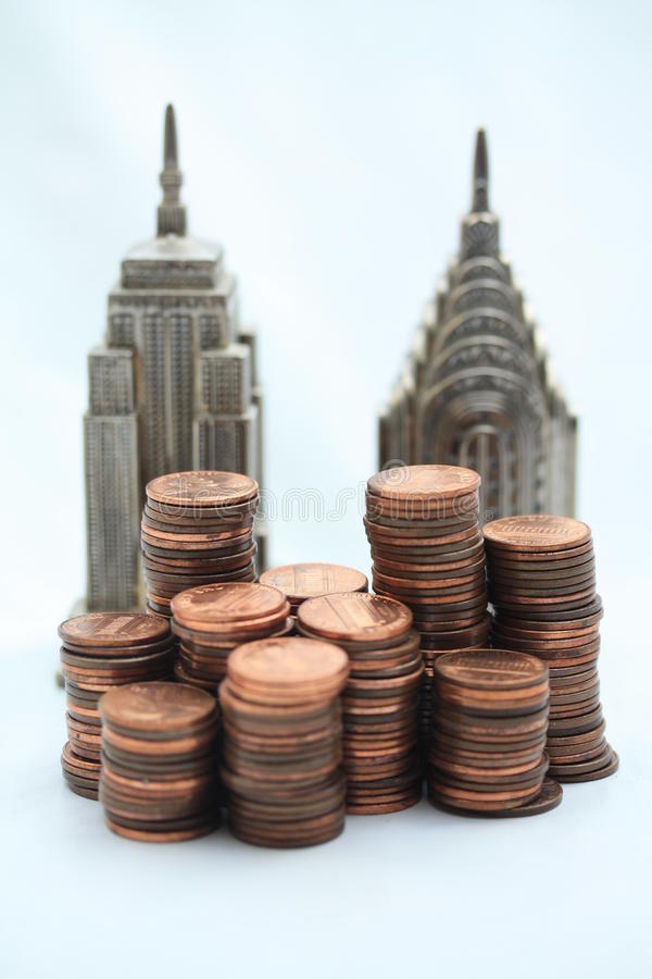 Financial skyline stock photography