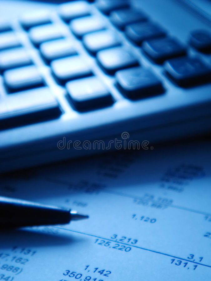 Financial Statement With Calcu Stock Photo