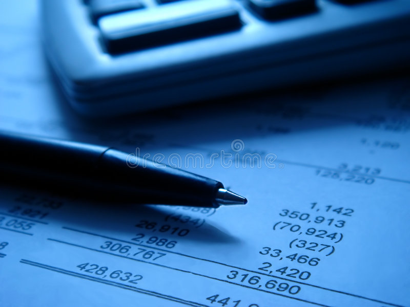 Download Financial Statement With Calcu Royalty Free Stock Photos - Image: 2400238