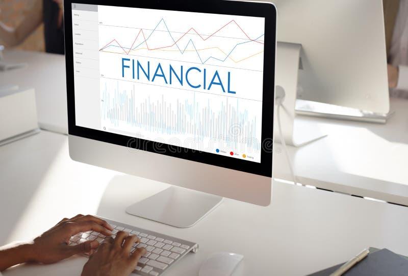 Financial Statistics Analytics Business Progress Concept royalty free stock photos