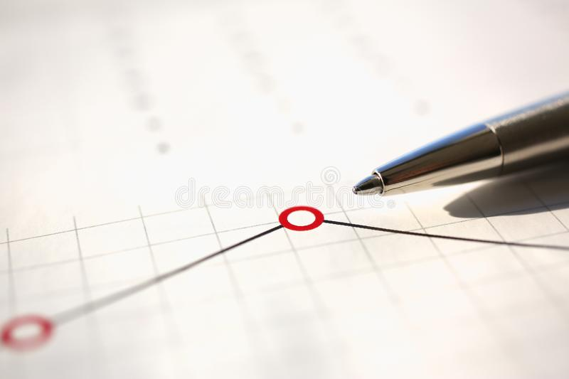 Financial statistics documents ball pen infographics royalty free stock photo