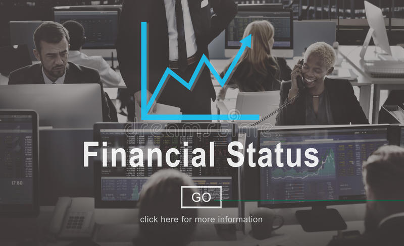Financial Status Budget Credit Debt Planning Concept stock image