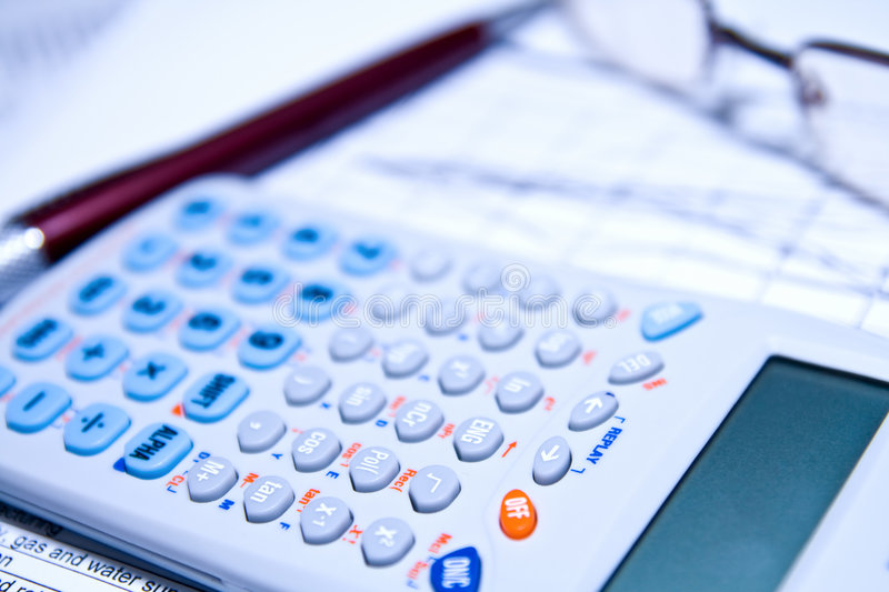 Download Financial Stock Concept - Calculator Chart And Pen Stock Images - Image: 7784124