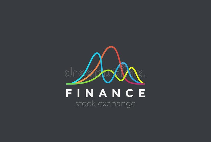 Financial Stock Exchange Market Charts Logo stock illustration