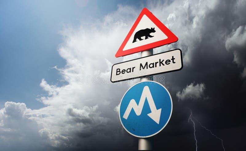 Financial Stock Market Downturn royalty free stock image