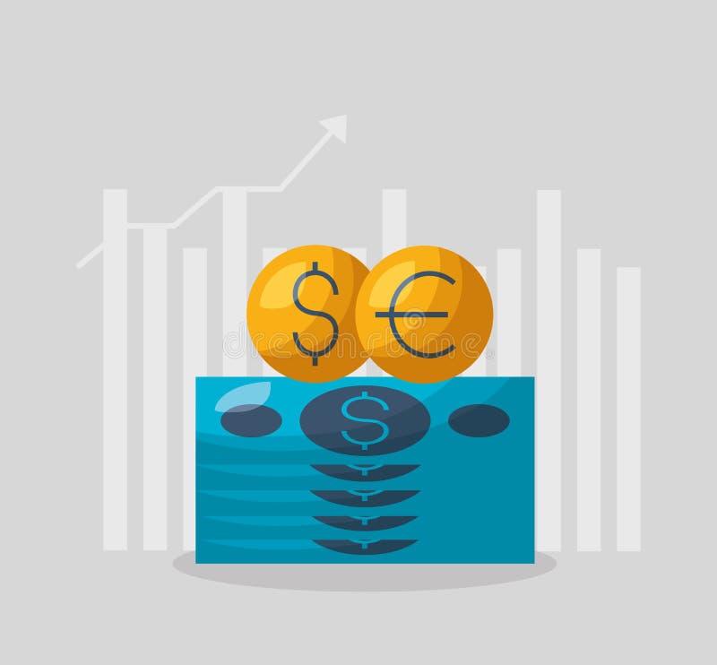 Financial stock market stock illustration