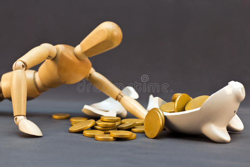 Financial Struggle royalty free stock photos