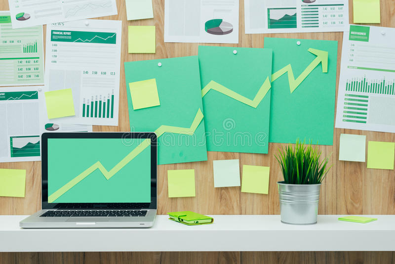 Financial success and green business stock photography