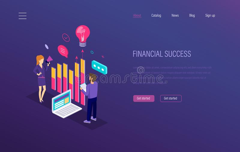 Financial success. Growth of economic finance indicators, marketing research. Financial success. Growth of economic finance indicators. Success in capital stock illustration
