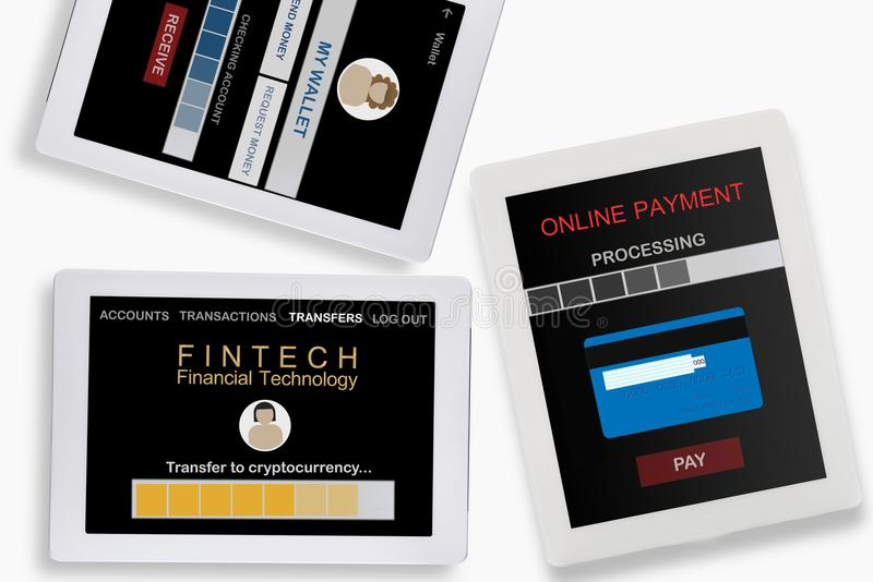 Financial technology concept royalty free illustration