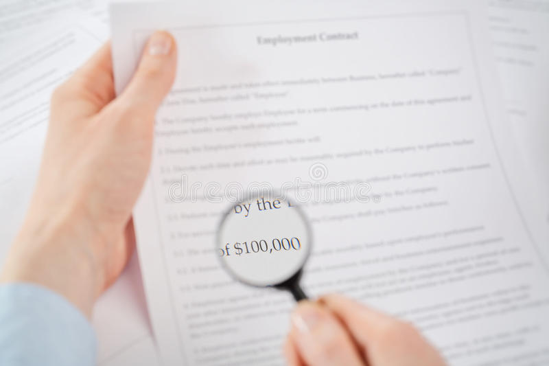 Download Financial Terms Of A Contract Stock Photo - Image: 40478858