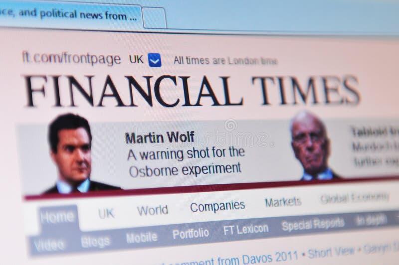 Financial Times στοκ φωτογραφία