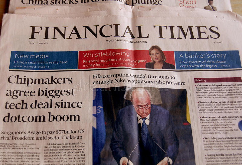 Financial Times imagens de stock
