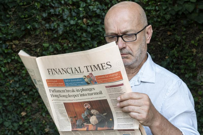 Financial Times-krant royalty-vrije stock afbeelding