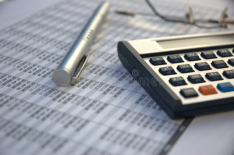 Financial tools royalty free stock photo