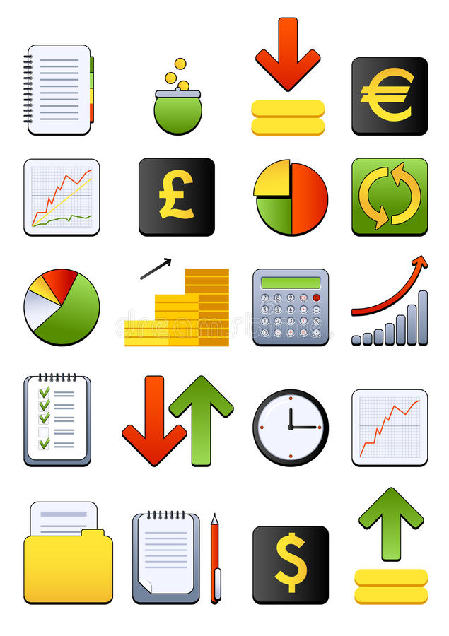 Financial web icons vector illustration