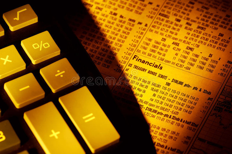 Financials royalty free stock image