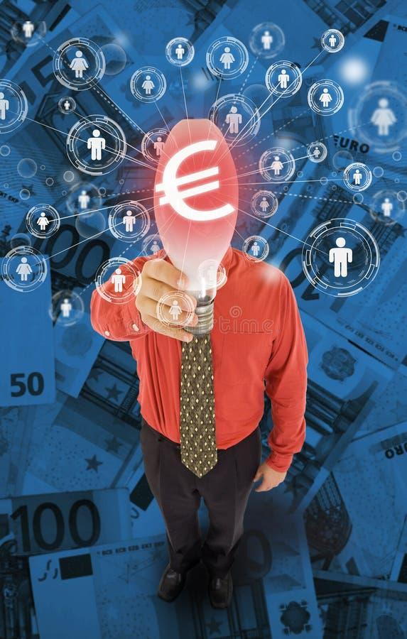 Financiamento de comunidade ou conceito crowdfunding ilustração do vetor