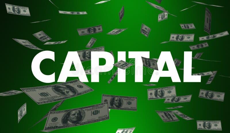 Financiamiento capital del dinero que financia efectivo disponible ilustración del vector