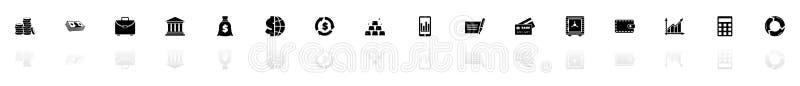 Financical - ícones lisos do vetor ilustração do vetor